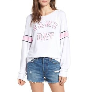 Wildfox Game Day Baggy Beach Jumper White - Small